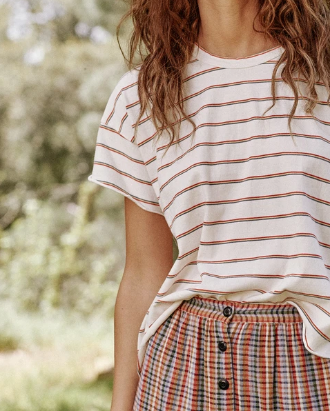 The Skinny Stripe Crop Tee