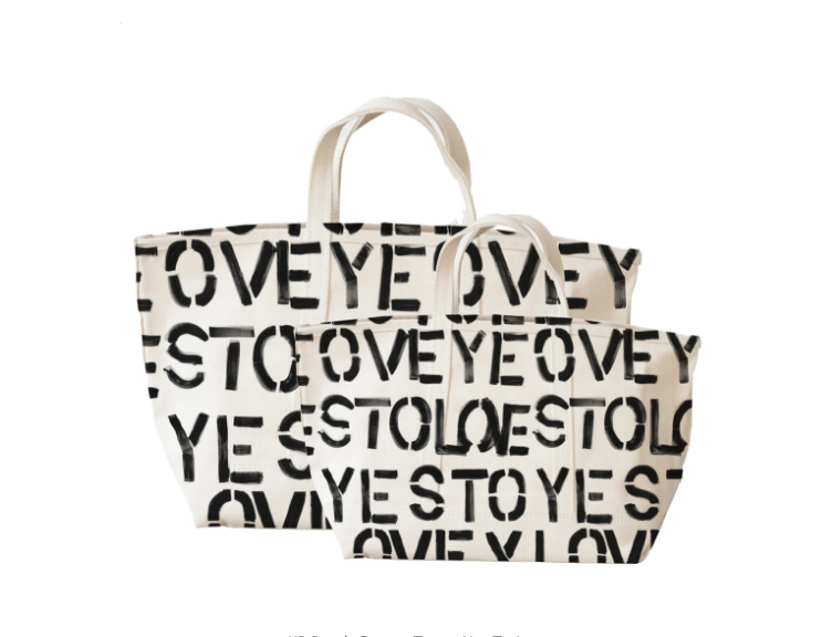 Yes To Lovey Canvas Tote