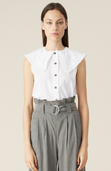 Cotton Poplin Sleeveless Top