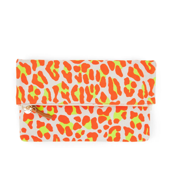 Neon Fold Over Clutch