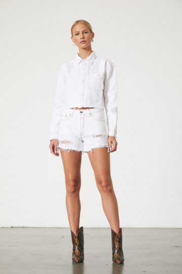 Christy White Denim Shirt