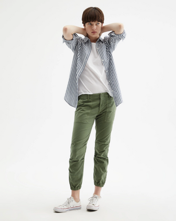 Cropped Green Military Pant