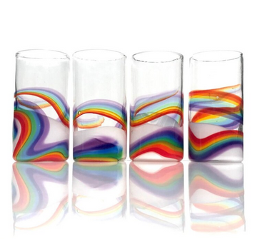 Rainbow Mojito Glass