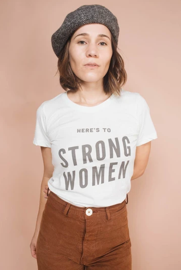 Strong Women Fitted Tee