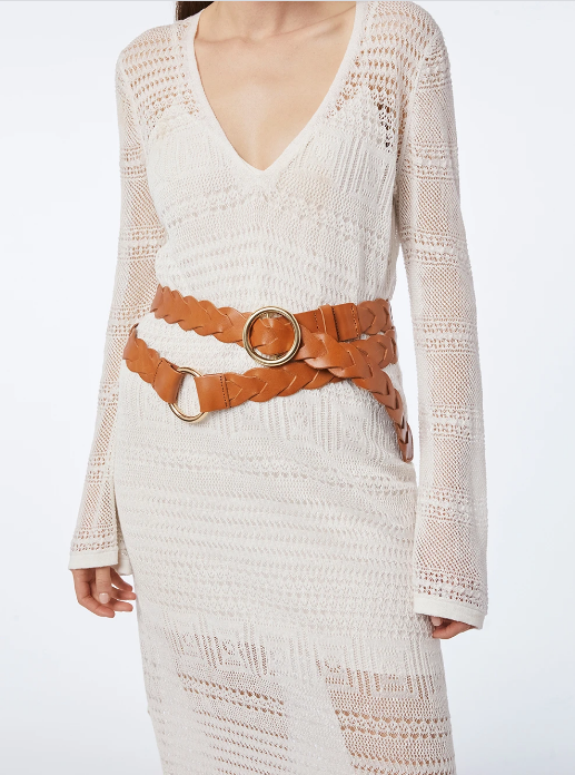 Braided O Ring Wrap Belt