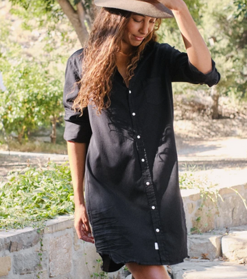 Mary Blackout Denim Dress
