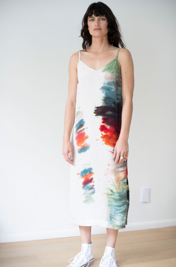 Cupro Rainbow Cami Dress