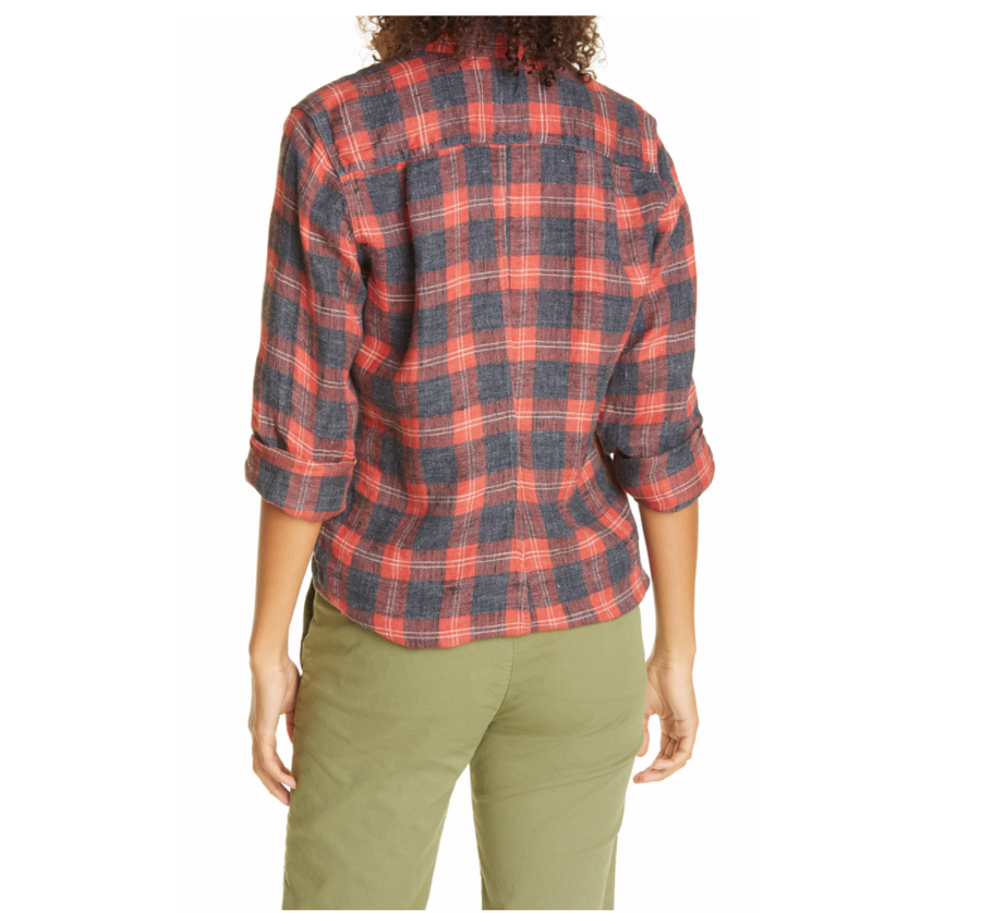 Eileen Red & Grey Plaid Flannel
