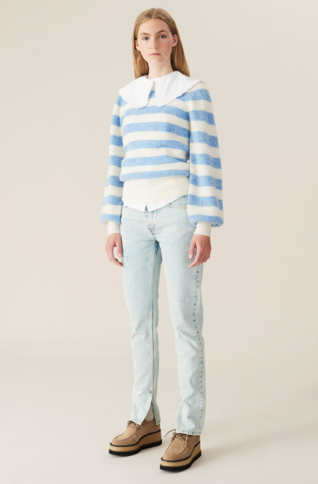 Striped Wool Knit Pullover