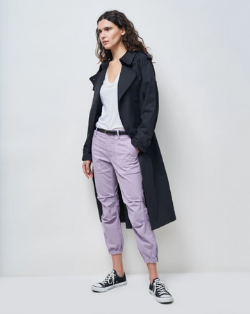 Cropped Military Pant Lilac