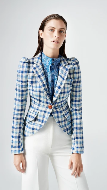 Pouf Sleeve One Button Blazer