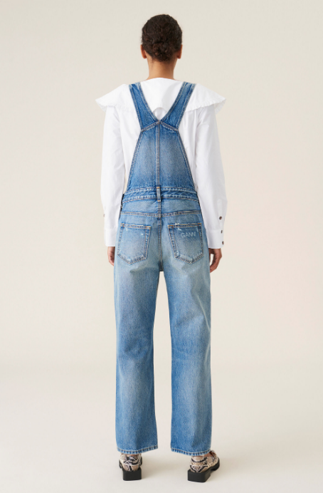 Overwashed Denim Overalls