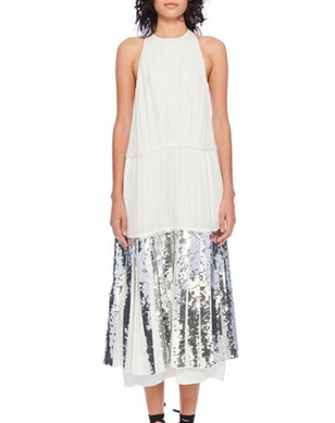 Claude Sequin Halter Dress