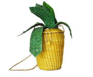 Straw Pineapple Bag