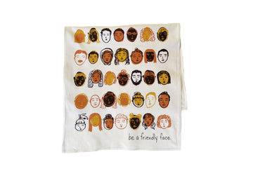Friendly Face Tea Towel