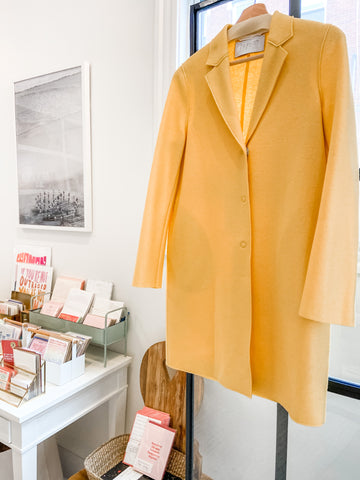 Bright Yellow Cocoon Coat