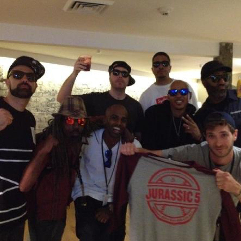 Jurassic 5 wearing LOCAL SUPPLY