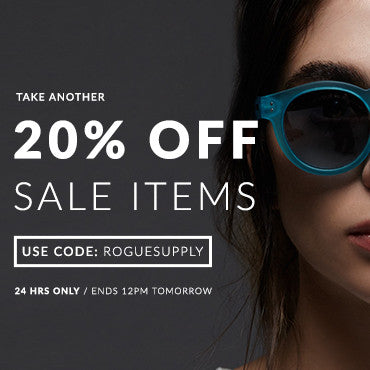 Grab an extra 20% off sales items (24 hours only)