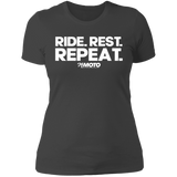 Ride. Rest. Repeat. - Light Print