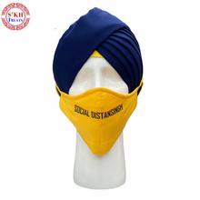 Load image into Gallery viewer, Face Mask | Social DistanSingh | Yellow |