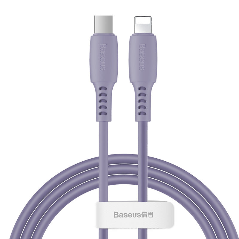 Baseus Colourful Cable Type-C For iP 18W 1.2m Purple