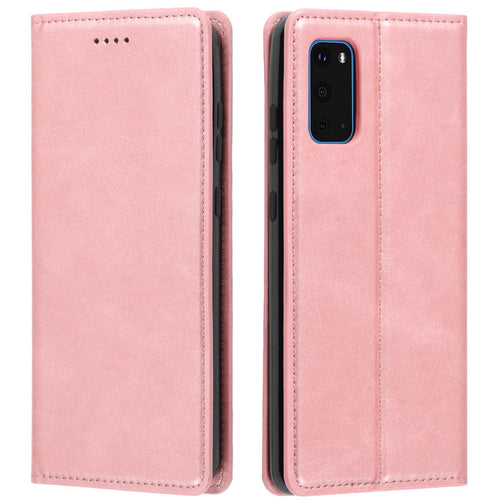 Samsung Galaxy S20 Plus Leder Etui Hell Rose