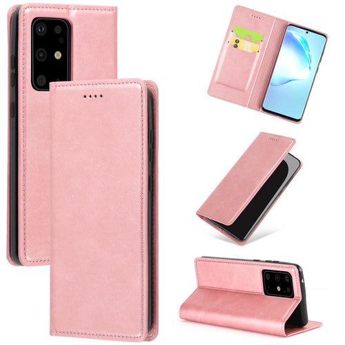 Samsung Galaxy S20 Ultra Leder Etui Hell Rose
