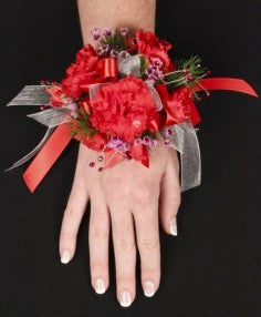 Carnations & Jewels Corsage