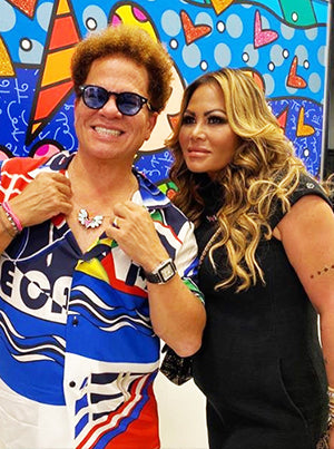 Romero Britto and Orianne Collins