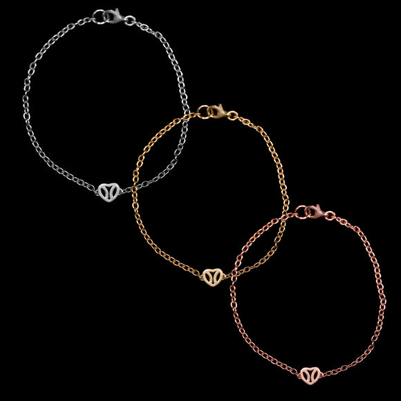 OC Silver Gold Plated Heart Bracelets