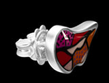 ROMERO BRITTO COLLABORATION LIPS EARRINGS IN 18K WHITE GOLD WITH ENAMEL DETAILS