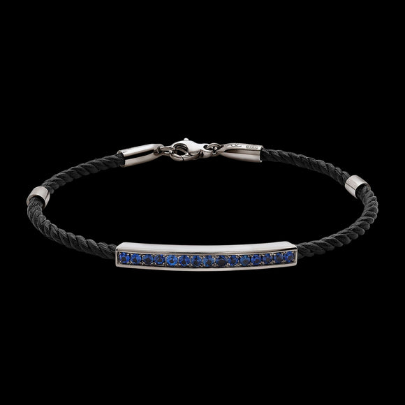 OC Men's 18K Yellow or White Gold Bracelet with Sapphires