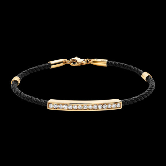 OC Men's 18K Yellow or White Gold Bracelet with White Diamonds