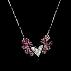 OC Limited - Romero Brito Collaboration Heart with Wings Necklace