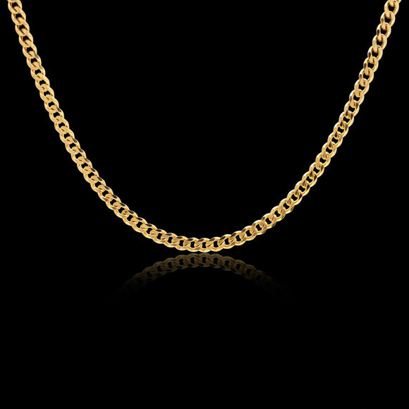 OC Men's Sterling Silver Gold Plated Chain Necklace