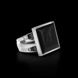 OC Men's Onyx Silver Square Ring