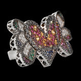 OC Limited - Romero Britto Collaboration 18K White Gold Ring/Pendant