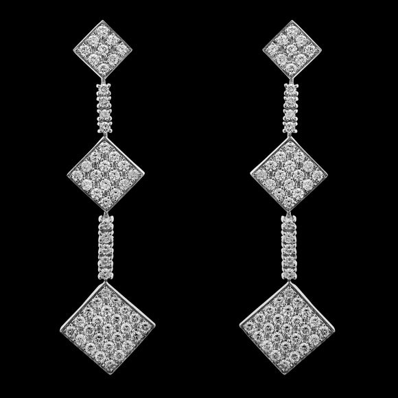 OC Forever 18K White Gold Charmante Earring with White Diamonds
