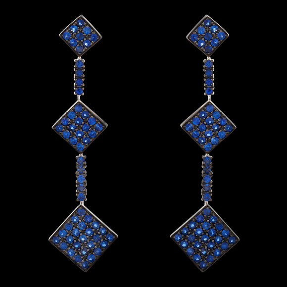 OC Forever 18K White Gold Charmante Earring with Sapphires
