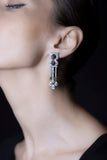 OC Limited 18K White Gold Earrings with Brown and White Diamonds
