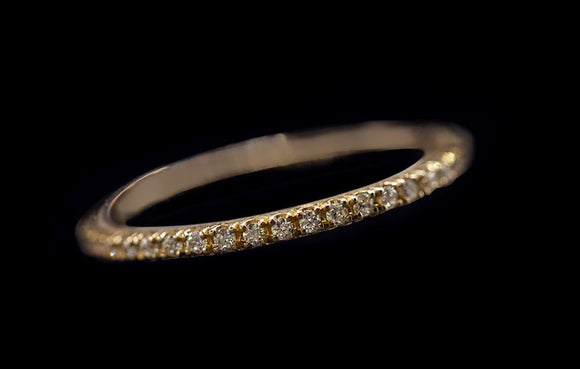 OC Slav 18K Diamond stackable bands