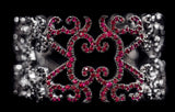 OC Tales 18K Black Gold Cuff with Black Diamonds and Rubies