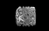 OC Tales 18K White Gold Ring with White Diamonds