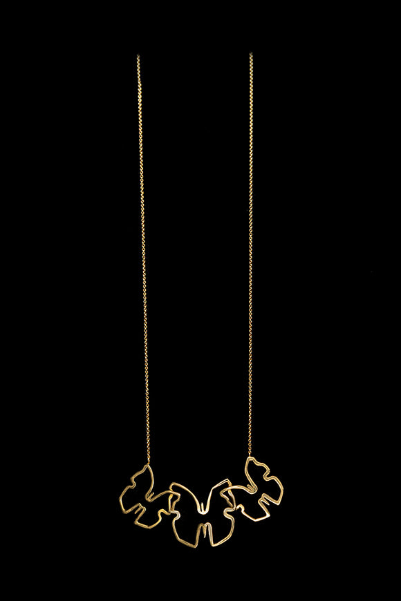 OC Urbaine 18K Yellow Gold Butterfly Necklace