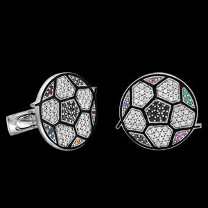 Romero Britto Collaboration Calico Soccer Cufflinks
