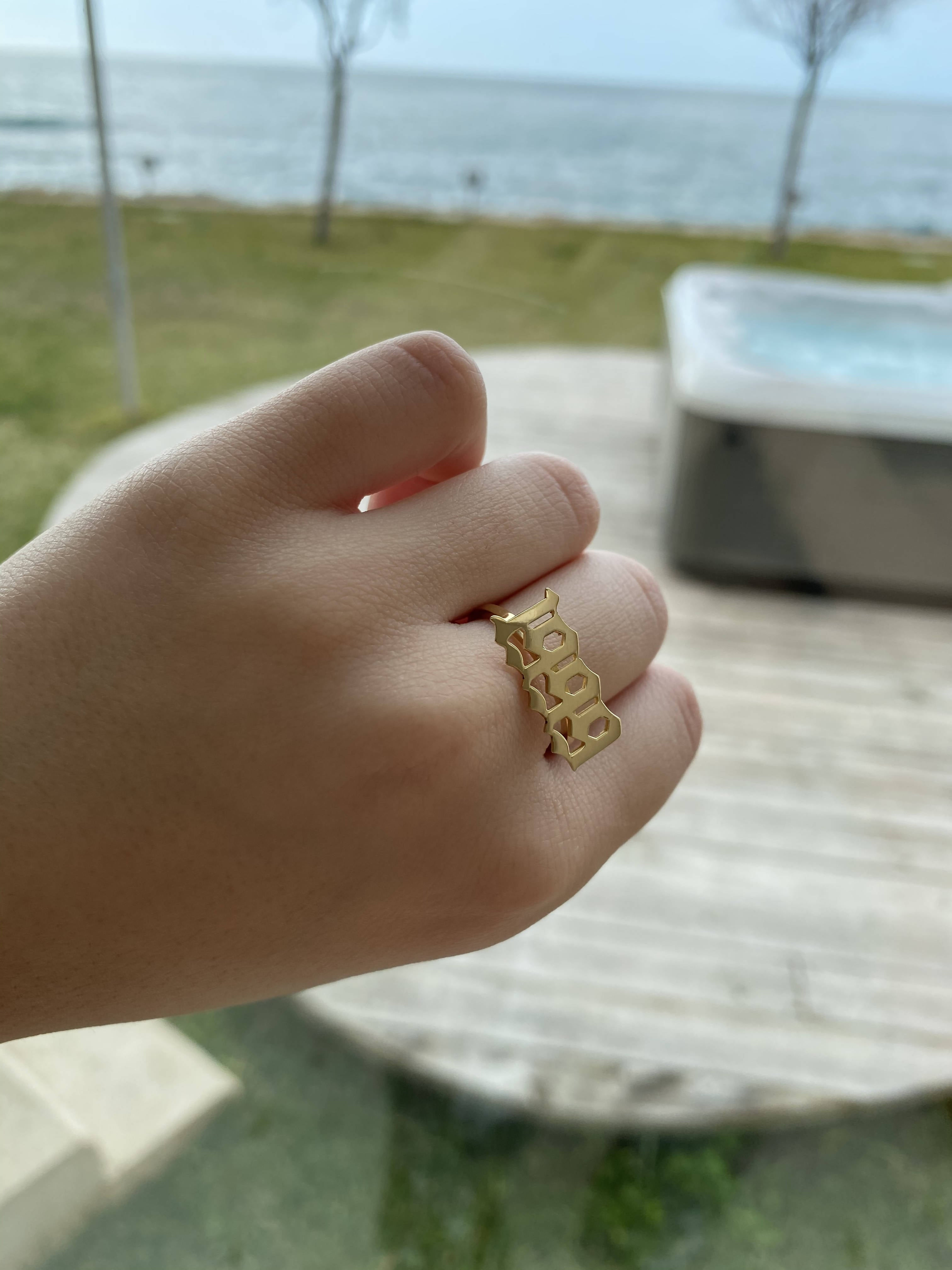 Gold Date Ring