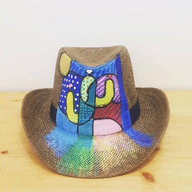 Hat - Cactus pop up art - Brown Base