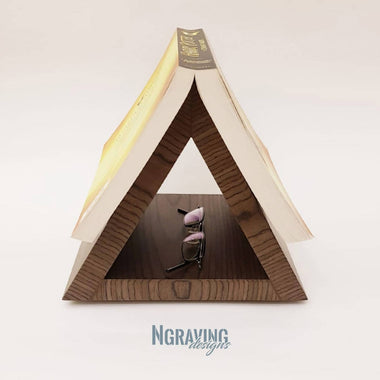 Custom-made book holder stand design.