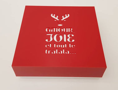 Custom-made CHRISTMAS french box design. GOODIES NOT INCLUDED