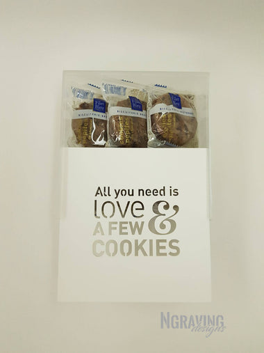 Custom-made cookies box design. COOKIES NOT INCLUDED.